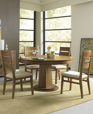 Champagne 5 Piece Round Dining Room Furniture Set