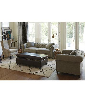 Martha Stewart Collection Saybridge Sofa Furniture Macy 39 S