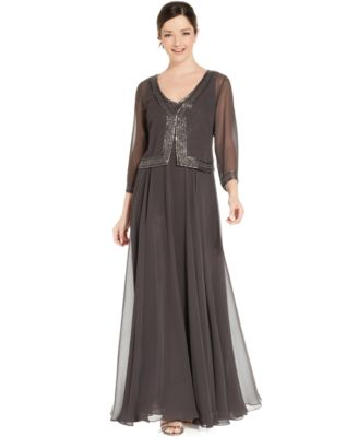 Patra Sequined Lace Formal Dress - Dresses - Women - Macy&39s