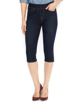 Levi's® Pull-On Capri Jeans, Odyssey Wash - Jeans - Women - Macy's