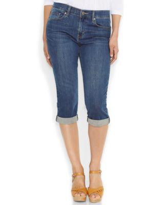 Levi's® Pull-On Capri Jeans, Black Wash - Jeans - Women - Macy's