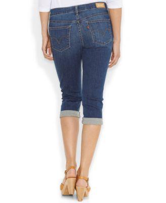 Levi's® Cuffed Capri Jeans, Baybreak Blue Wash - Jeans - Women ...