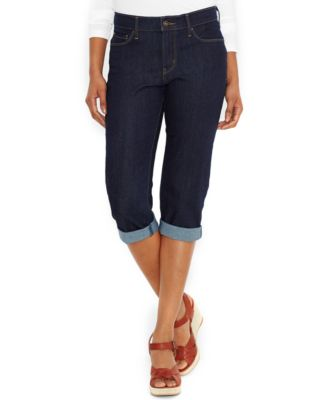 Levi's Petite Classic Denim Capri Pants, Darkest Ace Wash - Jeans ...