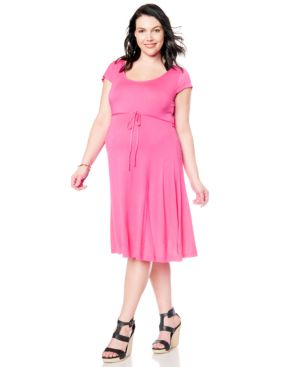 Motherhood Maternity Plus Size Short-Sleeve Dress