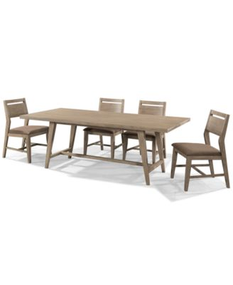 Kips Bay 5 Piece Dining Room Furniture Set With 4 Side Chairs