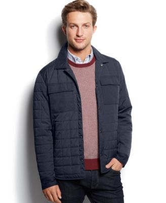 Kenneth Cole Solid Quilted Shirt Jacket - Coats & Jackets - Men ...