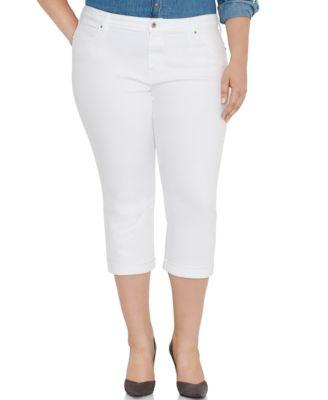 Levi's® Plus Size Capri Jeans, Light Blue Wash - Jeans - Plus ...