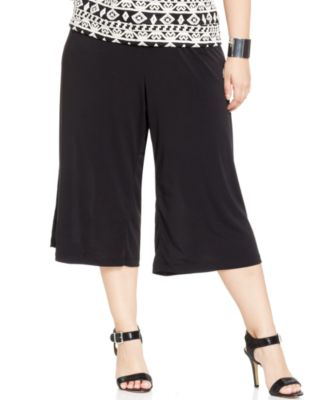 ing plus size gaucho pants - pants & capris - plus sizes - macy's