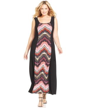 Love Squared Plus Size Sleeveless Printed Maxi Dress