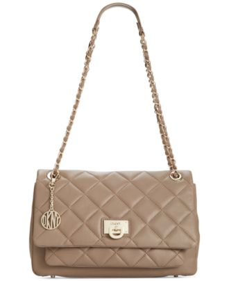 Dkny Quilted Nappa Flap Shoulder Bag 110