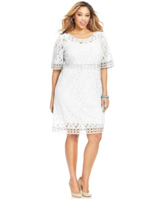 Plus Size Crochet Dress White Style White Dress