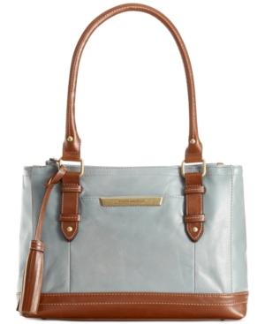 Tignanello American Beauty Vintage Leather Double Zip Shopper