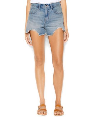 Levi's® Juniors' Cuffed High-Waist Denim Shorts - Shorts - Juniors ...