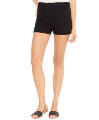 Levi's® Juniors' Cuffed High-Waist Denim Shorts - Shorts - Juniors ...