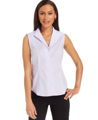 Jones New York Sleeveless Wrinkle-Resistant Shirt - Women's Brands ...