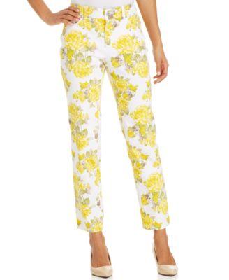 Charter Club Sunny Floral Modern Capri Pants - Jeans - Women - Macy's