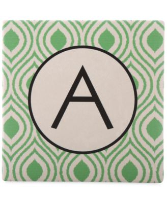 Thirstystone Monogram Coasters, Set of 4