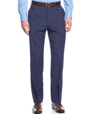 Ryan Seacrest Distinction Blue Glen Plaid Pants $59.99 AT vintagedancer.com