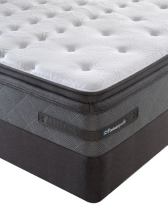 1 box spring sealy west end plush euro pillowtop queen split mattress set