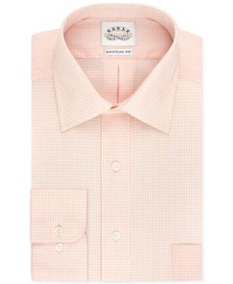 Eagle Non-Iron Peach Check Dress Shirt - Dress Shirts - Men - Macy's