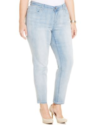 Seven7 Jeans Plus Size Skinny Jeans, Silver Fox Wash - Jeans ...
