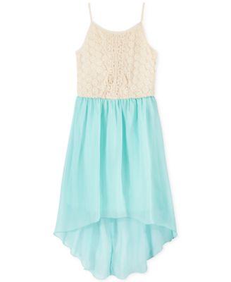 Speechless Girls' Lace High-Low Dress - Kids - Macy's