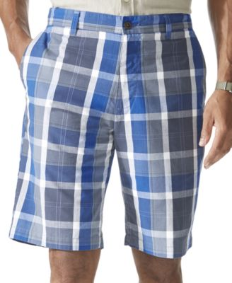 Dockers Flat Front Plaid Shorts - Shorts - Men - Macy's