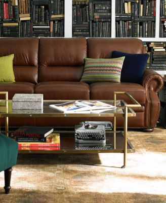 Royce Leather 2 Piece Chaise Sectional Sofa Furniture Macy's