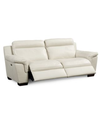 Julius Leather Power Motion Sofa Furniture Macy's