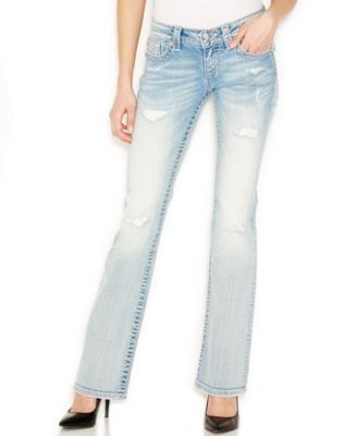 Miss Me Embellished Bootcut Distressed Jeans, Blow Out Wash ...