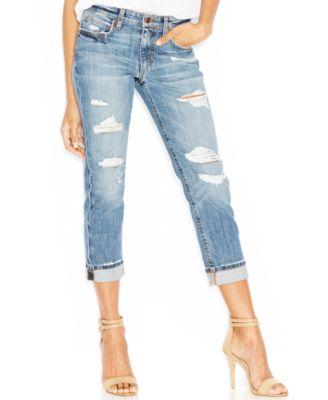 Joe's Boyfriend Slim-Fit Cropped Jeans, Gessa Wash - Jeans - Women ...