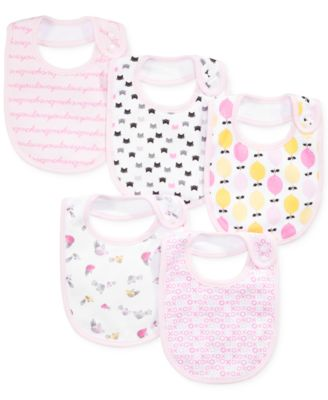 Rosie Pope Baby Girls' 5-Pack Printed Bibs