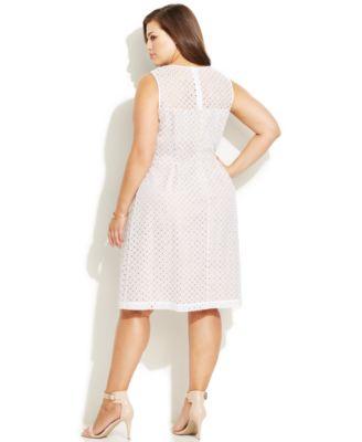 Calvin klein ivory dress plus size