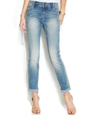 INC International Concepts Curvy-Fit Boyfriend Jeans, Zenith Wash ...