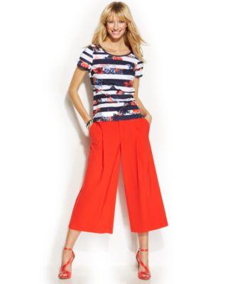 INC International Concepts Wide-Leg Gaucho Pants - Pants & Capris ...