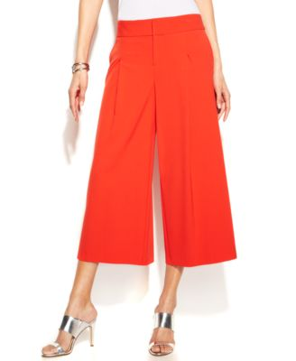 INC International Concepts Wide-Leg Gaucho Pants - Pants & Capris ...