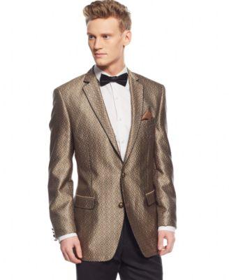 Tallia Black Polka Dot Slim-Fit Blazer - Blazers &amp Sport Coats