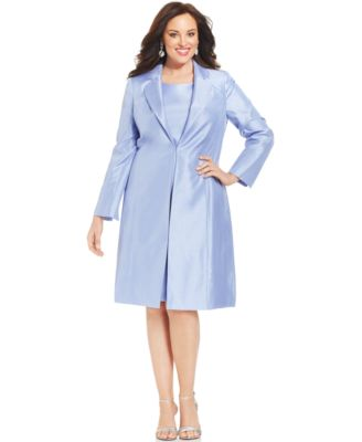 Tahari ASL Plus Size Pearl-Trim Snap-Front Skirt Suit - Wear to ...