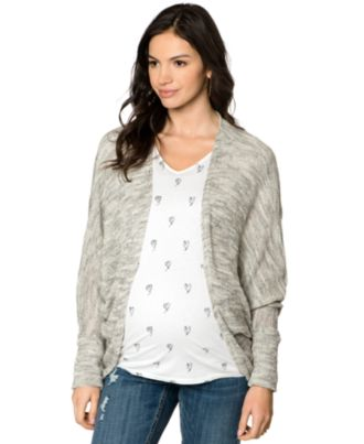 Willow and Clay Maternity Dolman-Sleeve Cardigan