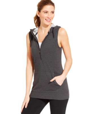Nike Half-Zip Sleeveless Hoodie - Tops - Women - Macy's