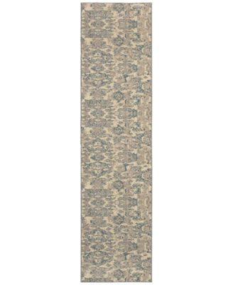 "Kaleidoscope 8023Y Modern Damask 2'7"" x 10' Runner Rug"