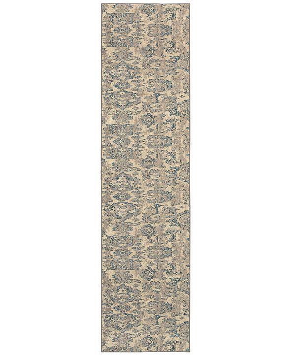 Oriental Weavers Kaleidoscope 8023Y Modern Damask Runner Rug