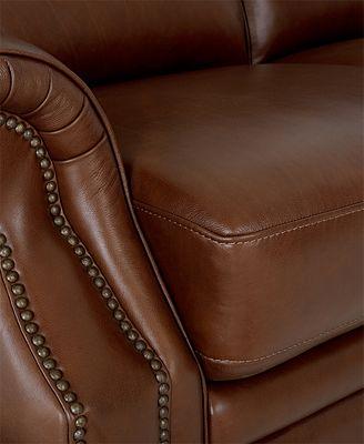 Royce Leather Sofa Furniture Macy's