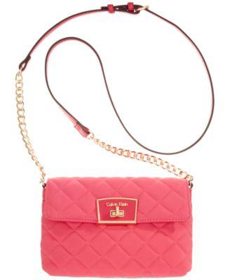 Calvin Klein Quilted Fabric Crossbody - Handbags & Accessories ... : calvin klein quilted leather crossbody bag - Adamdwight.com