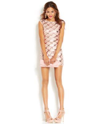 Speechless Juniors&39 Sequin Bodycon Dress - Dresses - Juniors - Macy&39s