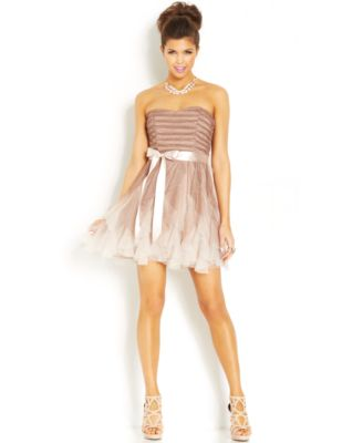 Teeze me ombre sequin hi-low dress white at the top