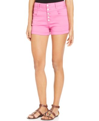 Tinseltown Juniors' High-Waisted Denim Shorts - Juniors' Brands ...