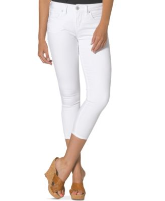 Silver Jeans Suki Skinny Capri Jeans White Wash - Jeans - Juniors