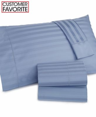Charter Club Damask Stripe Wrinkle Resistant 500 Thread Count Pima Cotton California King Sheet Set, Only at Macy's