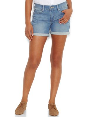 Jessica Simpson Cuffed Denim Shorts - Shorts - Juniors - Macy's